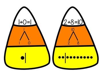 October Math Center-Candy Corn Equations