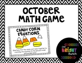 October Math Center-Candy Corn Equations