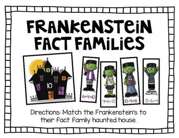 October Math Center-Frankenstein Fact Families