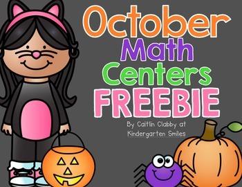 October Math Center Freebie