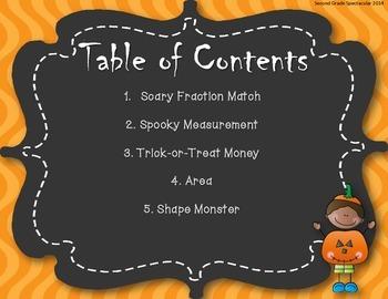 October Math Centers