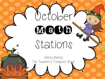 October Math Stations