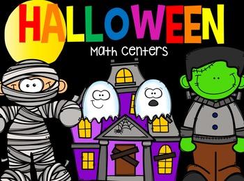 Halloween Math Centers {CCSS}