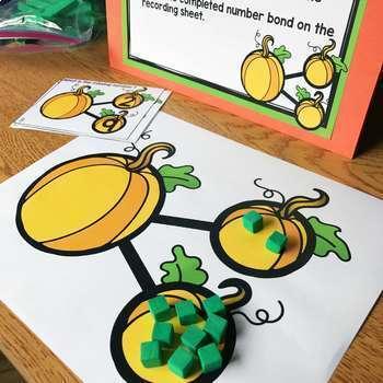 October Math Centers & Activities for 1st Grade