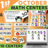 October Math Centers for 1st Grade | Includes Halloween Ac