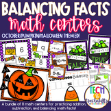 October Math Centers - Balancing Facts