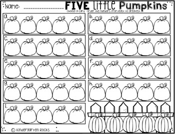 October Math Centers for Kindergarten {CCSS}
