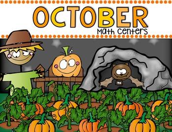 October Math Centers for Kindergarten {CCSS}