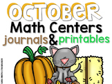 October Math Centers, Journals, and Printables
