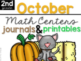 October Math Centers, Journals, and Printables Second Grade