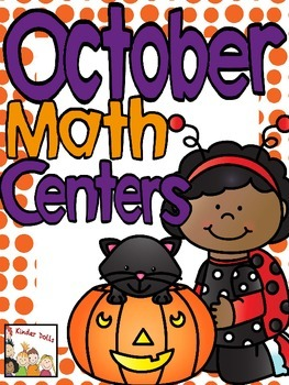 October Math Centers- Kindergarten
