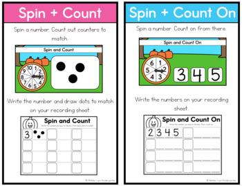 October Math Centers Kindergarten