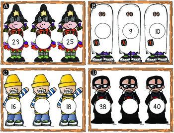 October Math Centers & Printables {Halloween Themed Melonheadz Style}