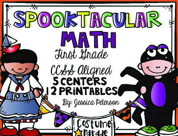 October Math Centers & Printables {Halloween Themed Melonh