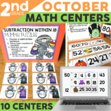 October Math Centers and Activities for 2nd Grade