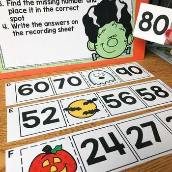 October Math Centers for 2nd Grade | Includes Halloween Activities