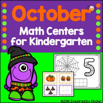 October Math Centers for Kindergarten
