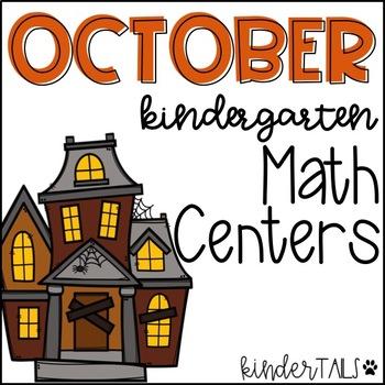 Halloween Math Centers for Kindergarten {October}