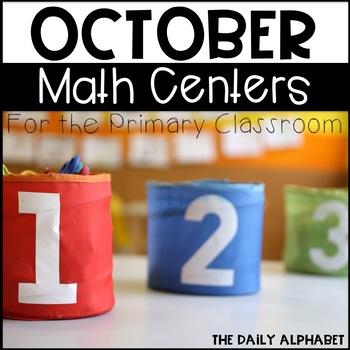 Kindergarten Math Centers for October