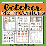 Autumn Math Centers: odd/even, graphing, addition, equivalent expressions, money