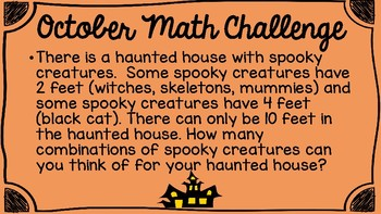 October Math Challenges