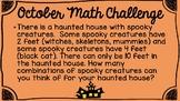 October Math Challenges