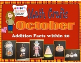October Math Crafts Addition Facts within 20