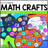 October Math Crafts: Pumpkin, Ghost, and Bat / Halloween Math Activities
