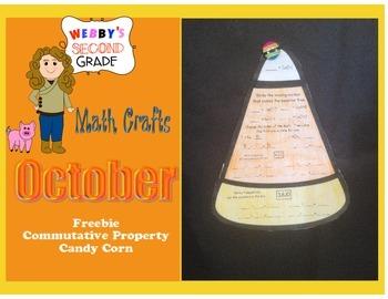 October Math Crafts Freebie Commutative Property Candy Corn