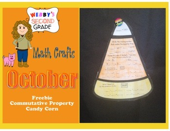 October Math Crafts Freebie Commutative Property Candy Corn