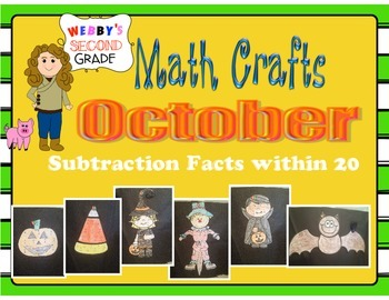 October Math Crafts Subtraction Facts within 20