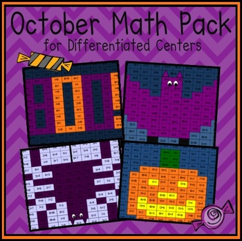 October Math Facts Pack (Differentiated Centers)