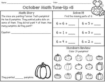 October Math First Grade