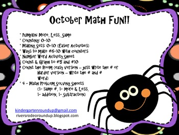 October Math Fun!