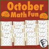 October Math Fun- October and Fall Activities