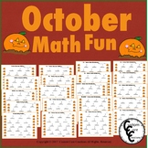 October Math Fun- October and Fall Activities