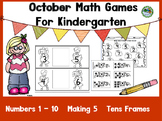 October Math Games For Kindergarten