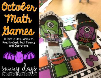 October Math Games - Print and Play!