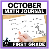 October First Grade Math Journal