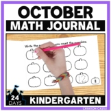 October Kindergarten Math Journal