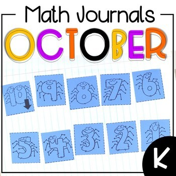 October Math Journal Kindergarten