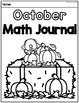 October Math Journal (Kindergarten - Common Core)