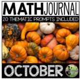 October Math Journal (Kindergarten - Common Core)