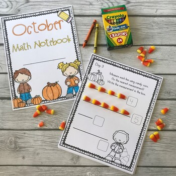 October Fall Math Notebook (Math for the Entire Month!)