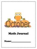 October Math Journal Problems