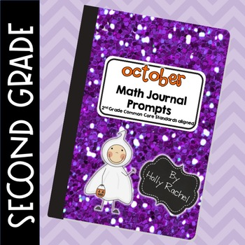 October Math Journal Prompts Second  Grade