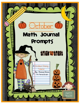 October Math Journal Prompts (Tickets)