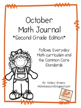 October Math Journal Second Grade