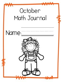 October Math Journal Second Grade