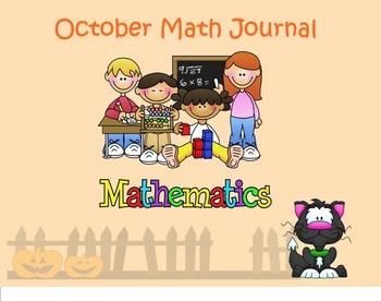 October Math Journal for SMART board